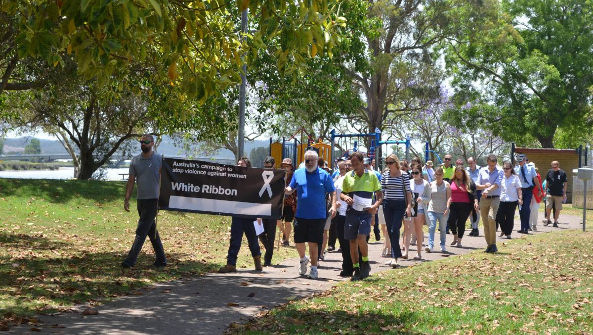 White Ribbon Day March Through Raymond Terrace