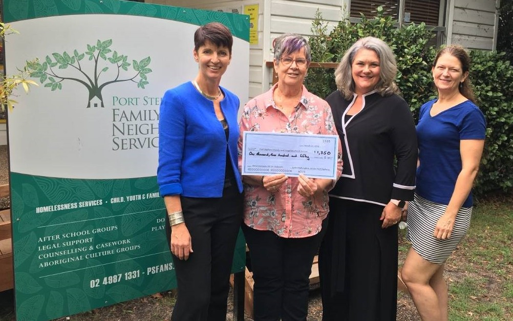 Kate Washington And Meryl Swanson Raise $4000 From International Women't Day Breakfast.